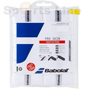 Babolat Pro Team Tacky Thin Tacky Touch Grip White, Pack of 12