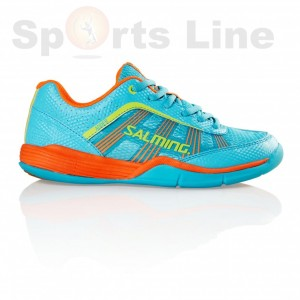 Salming Adder Junior (Turquoise/Shock.Orange) Badminton Shoe