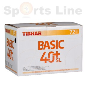 Tibhar 40+ basic SL pack of 72 (white)