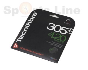 Tecnifibre 305 + PLUS 1.20mm 17 Gauge Squash String Set (Black)