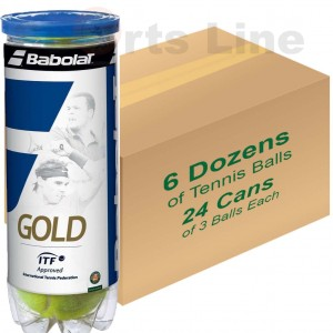 Babulat Gold Pet X3 Tennis Ball (24 Cans)