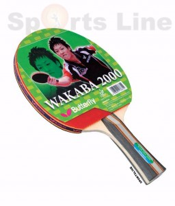 Butterfly Wakaba 2000 TT Bat With 2 Balls